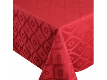 Nappe rectangle 150x350 cm Jacquard 100% polyester BRUNCH rouge