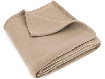 Couverture polaire 180x220 cm Isba Sable 100% Polyester 320 g/m2 traité non-feu