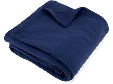Couverture polaire 240x260 cm 100% Polyester 350 g/m2 TEDDY Bleu Marine