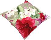 Housse de coussin 45x45 cm CARITA Rose de Chine Polycoton