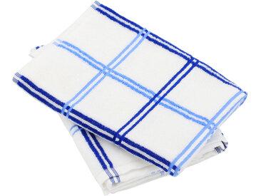 Lot de 2 torchons de cuisine éponge 50x50 cm SQUARES bleu