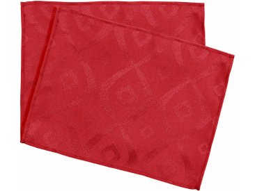 Lot de 2 sets de table 35x45 cm Jacquard 100% polyester BRUNCH rouge