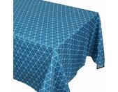Nappe rectangle 150x200 cm imprimée 100% polyester PACO géométrique bleu curacao