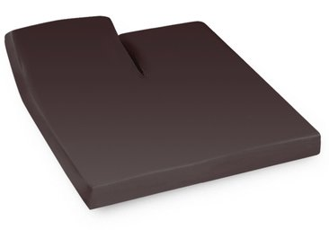 Drap housse relaxation uni 2x70x200 cm 100% coton ALTO Manganese TR Tête relevable uniquement