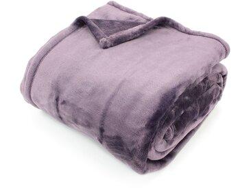 Couverture polaire 220x240 cm Microfibre 100% Polyester 320 g/m2 VELVET Violet Prune