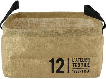Panier de rangement 13L en jute beige / 12 L'ATELIER TEXTILE