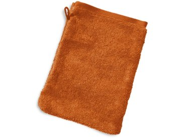 Gant de toilette 16x21 cm PURE Orange Safran 550 g/m2