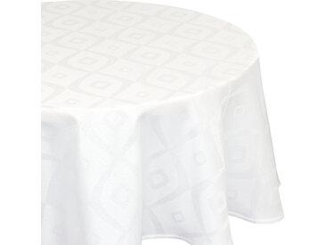 Nappe ovale 180x240 cm Jacquard 100% polyester BRUNCH blanc
