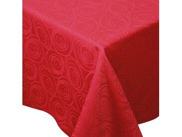 Nappe rectangle 150x350 cm Jacquard 100% coton SPIRALE rouge