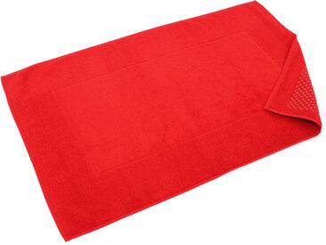 Tapis de bain antidérapant 60x90 cm velours PRESTIGE rouge