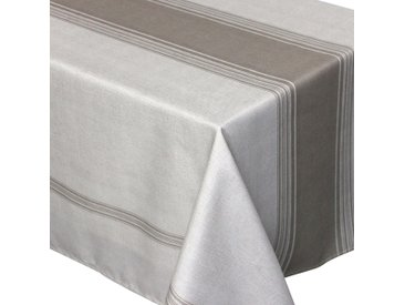 Nappe rectangle 150x350 cm imprimée 100% polyester BISTROT Taupe