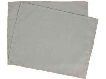 Lot de 2 sets de table 35x45 cm Jacquard 100% coton CUBE gris Perle