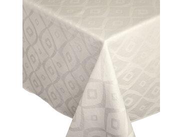 Nappe rectangle 150x200 cm Jacquard 100% polyester BRUNCH ecru