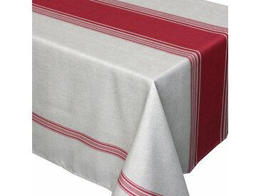 Nappe rectangle 150x350 cm imprimée 100% polyester BISTROT Rouge