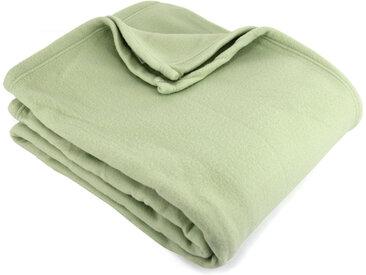 Couverture polaire 240x260 cm 100% Polyester 350 g/m2 TEDDY Vert Tilleul