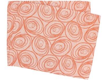 Lot de 2 sets de table 35x45 cm Jacquard 100% coton SPIRALE orange papaye