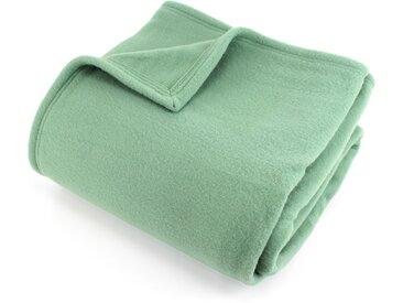 Couverture polaire 240x260 cm 100% Polyester 350 g/m2 TEDDY Vert Amande