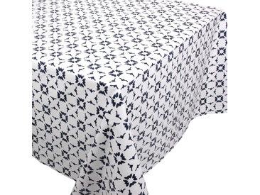 Nappe rectangle 160x350 cm 100% coton enduction acrylique BELEM blanc