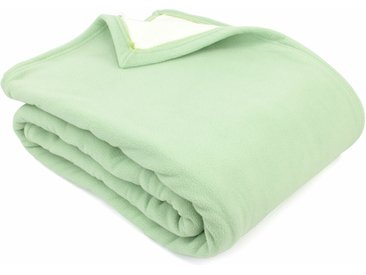 Couverture polaire luxe 240x260 cm 100% polyester 430 g/m2 NARVIK Vert Tilleul