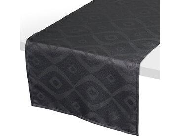 Chemin de table 45x150 cm Jacquard 100% polyester BRUNCH anthracite