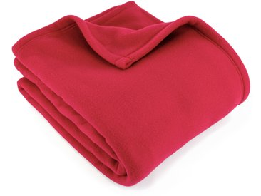 Couverture polaire 220x240 cm 100% Polyester 350 g/m2 TEDDY Rouge Framboise