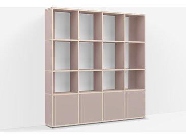 Bibliothèque sur measure en Panneaux de Particules - Rose Poudré – design, moderne