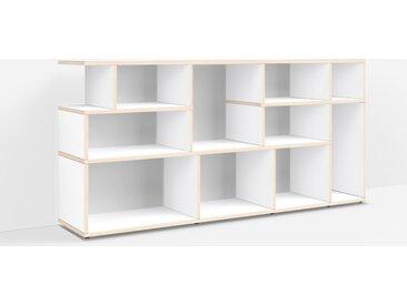 Meuble bibliothèque sur mesure en multiplex blanc