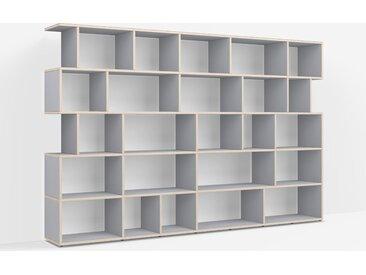 Étagère Bibliothèque sur mesure en multiplex gris – design, moderne