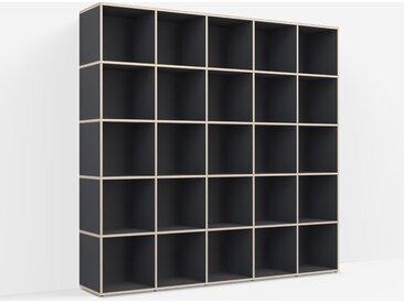 Meuble platine sur mesure en multiplex noir