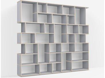 Meuble de séparation sur mesure en multiplex gris