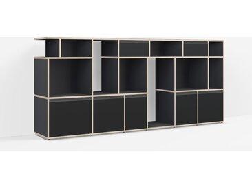 Meuble Vinyle sur mesure en multiplex noir – design, moderne