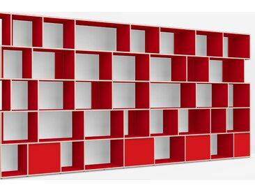 Meuble De Séparation sur measure en Panneaux de Particules - Vrai Rouge – design, moderne