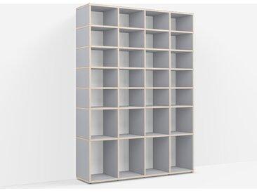 Bibliothèque sur mesure en multiplex gris – design, moderne