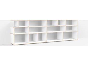 Bibliothèque sur mesure en multiplex blanc – design, moderne
