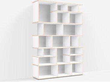 Meuble de séparation sur mesure en multiplex blanc