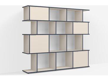 Étagère Bibliothèque sur mesure en panneaux de particules sable – design, moderne
