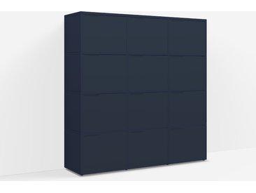 Étagère Bibliothèque sur mesure en panneaux de particules bleu nuit – design, modern