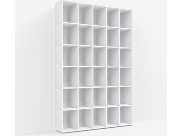 Meuble bibliothèque sur mesure en panneaux de particules blancs