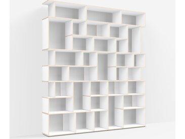Étagère de rangement personnalisée en multiplex blanc