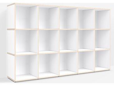 Meuble platine sur mesure en multiplex blanc