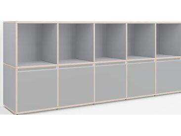 Meuble Vinyle sur mesure en multiplex gris – design, moderne