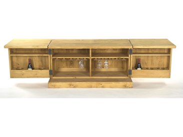 Table basse mini bar en pin massif Chamonix