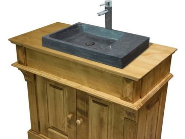 Meuble lavabo simple en pin massif Chamonix