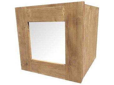 Porte vitrée en bois pour intérieur de cube pin massif