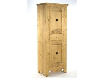Bonnetière pin massif 2 portes 1 tiroir Chamonix