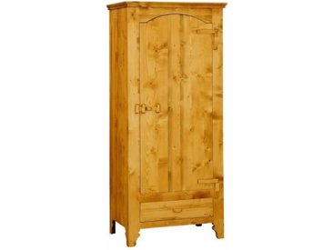 Bonnetière 1 porte charnières bois en pin massif Tradition