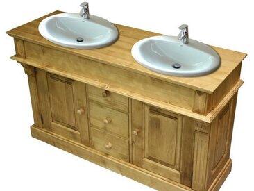 Meuble lavabo double en pin massif Chamonix
