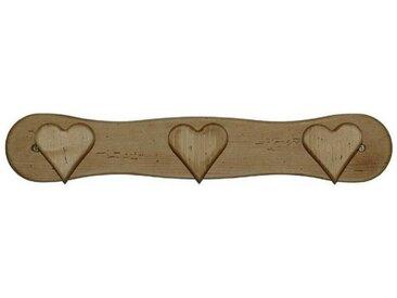 Patère 3 crochets cœurs en pin massif Chamonix