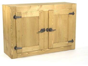 Meuble haut 2 portes pin massif pour cuisine Avoriaz