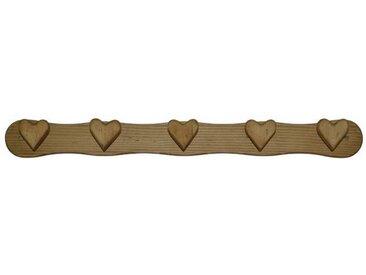 Patère 5 crochets cœurs en pin massif Chamonix